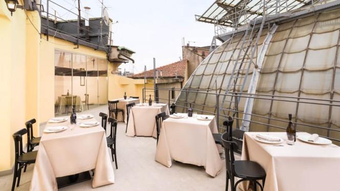 Terrazza esterna sulla Galleria - I Dodici Gatti, Milan