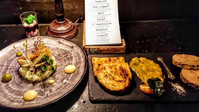 Foie gras à la truffe et tartare de saint jacques - La Chimère, Aix-en-Provence