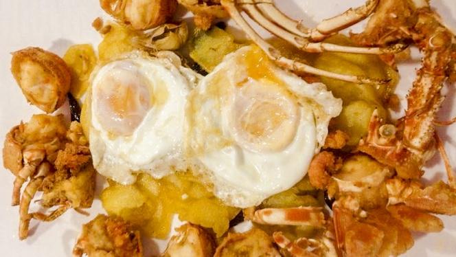Huevos y langosta - Portobello - Rosario Pino, Madrid