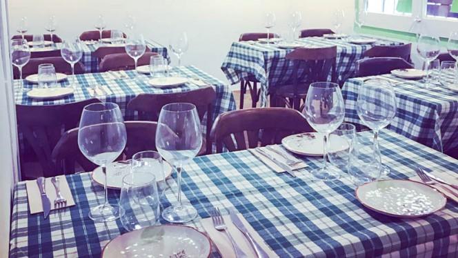Detalle de la mesa - Palomo Cojo, Barcelona