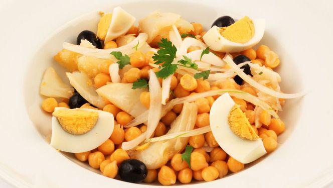 Salada de grão com bacalhau - Lisboa Há Mesa, Lisboa