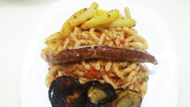 pasta con pesto alla trapanese - Carni e Delizie, Trapani