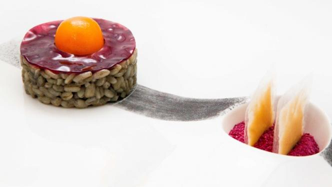 Trigo meloso de trufa negra, yema pomada y raviolis de foie - Samsha by Víctor Rodrigo Alors, Valencia