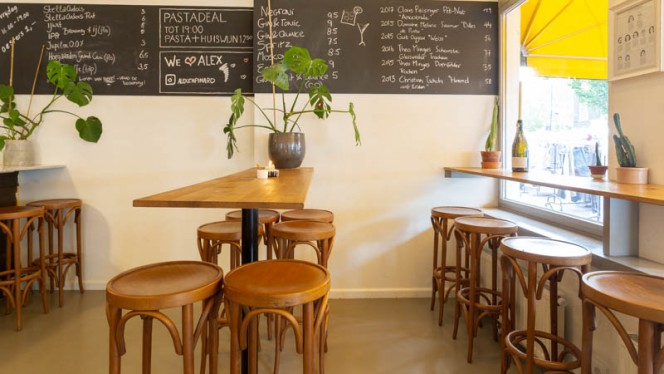 Het restaurant - Alex + Pinard, Amsterdam