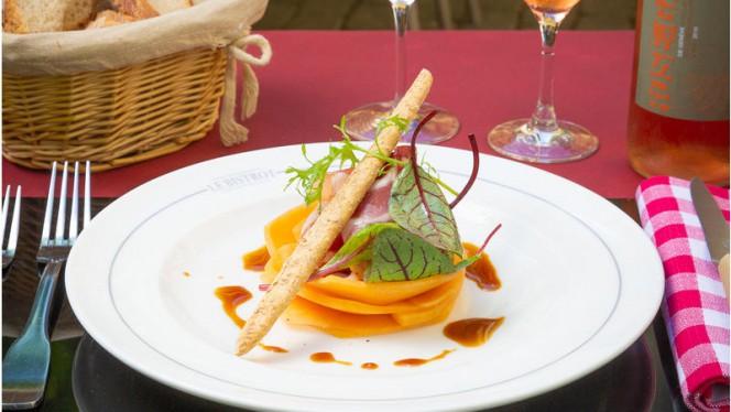Rosace de melon et jambon Kintao AOC - Le Bistrot Le Lion d'Or - Carouge, Carouge