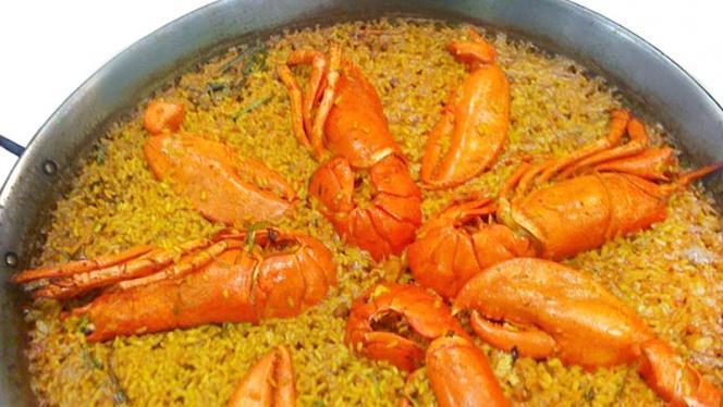 detalle arroz con gambas - Ciscar 26, Valencia