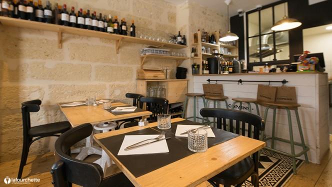 Vue des tables - Le Coin des Copains, Bordeaux