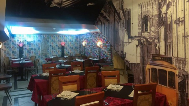 sala do restaurante - Casa de Fados Ti Jorge, Lisboa