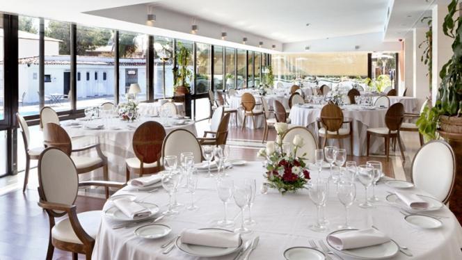 Sala acristalada - H2O – Hotel Osuna, Madrid