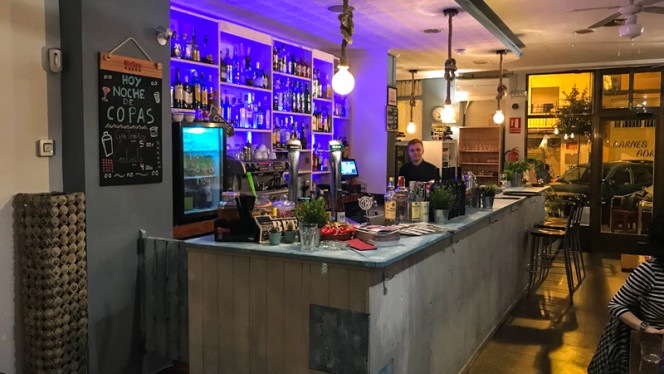Vista del interior - Café Infinito, Valencia