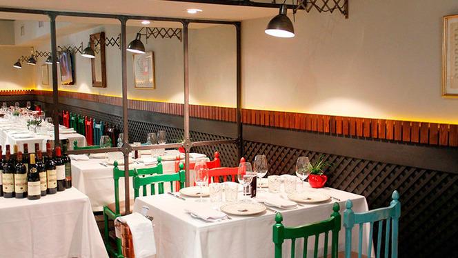 Mesa interior - Taberna Moderna, Madrid