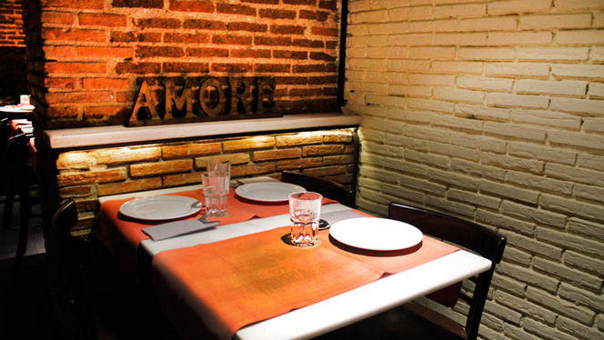 detalle mesa - Trattoria Malatesta, Madrid