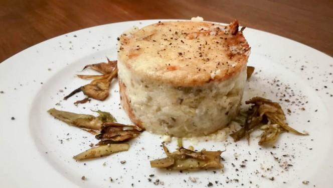 Lasagnetta cacio e pepe con carciofi - Villa Ducci, San Gimignano