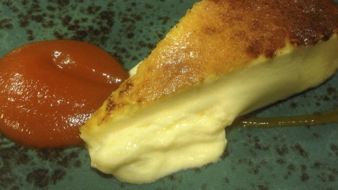 Tarta de queso con mermelada de zanahoria - Alia Die, A Coruña