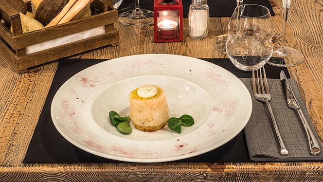 Capesante scottate con salsa di lattughina e pane tostato - Ristrot Guviol, Turin