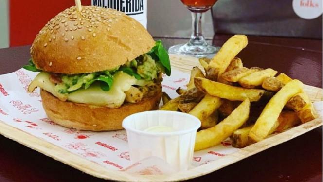 la vegan pollito guac - Folks Burgers, Barcelona