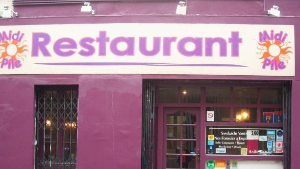 Devanture - Restaurant Midi Pile, Marseille