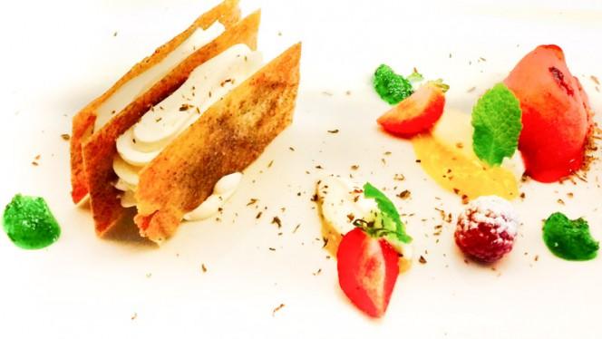 chantilly con pasta brie y maracuya - Asador de Santiago, Ubeda