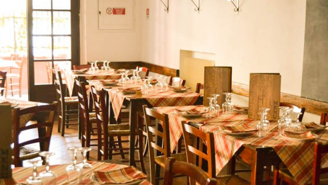 La sala - La Cantina di Dante, Rome