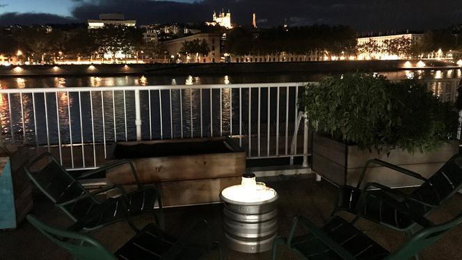 terrasse nuit - A la Piscine, Lyon