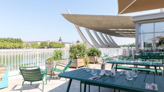 Vue de la terrasse - A la Piscine, Lyon