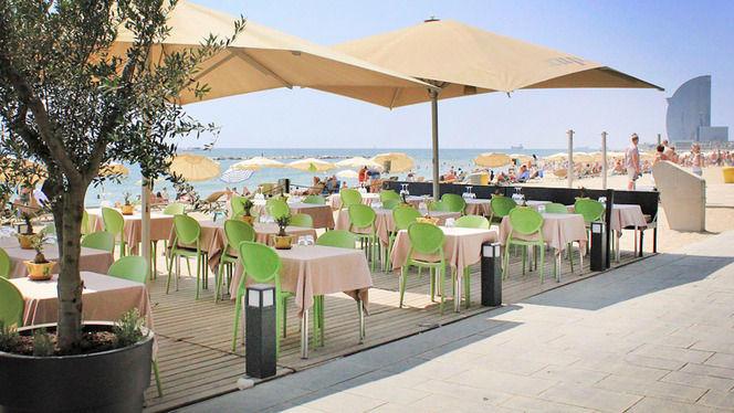 Terraza con vistas a la playa - Xup Xup Restaurant, Barcelona