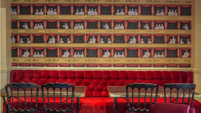 Détail de déco salle du haut - Bistrot de l'Opéra Carmen, Paris