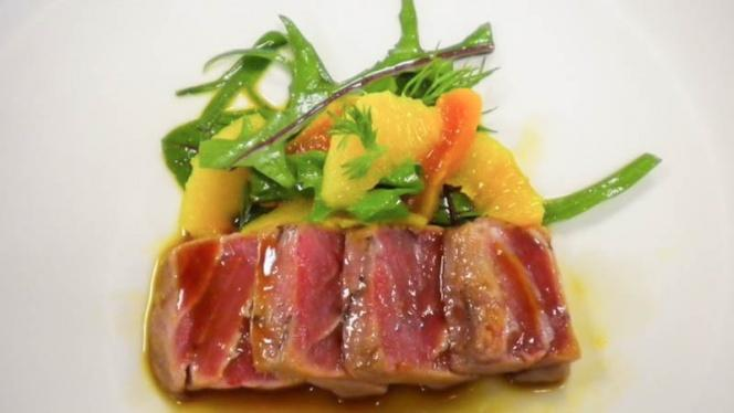 Detalle plato - Galileo Club Gastronómico, Valencia