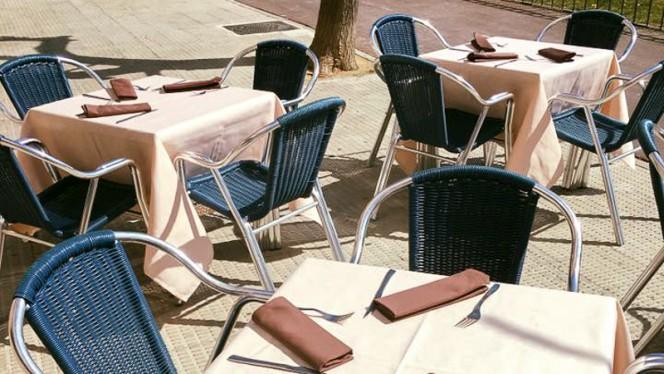 Vista terraza - Crêpe Souzette Café, Coslada