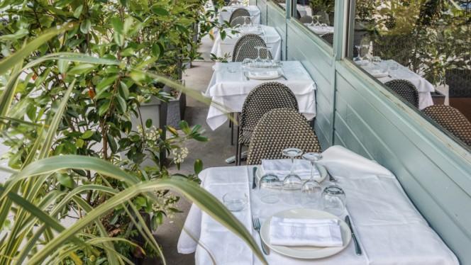 Vue de la terrasse - Vin et Marée Maine-Montparnasse, Paris