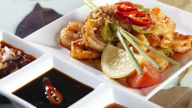 Indonesische Garnalen TF - Indonesisch Restaurant Toko Frederik, Den Haag