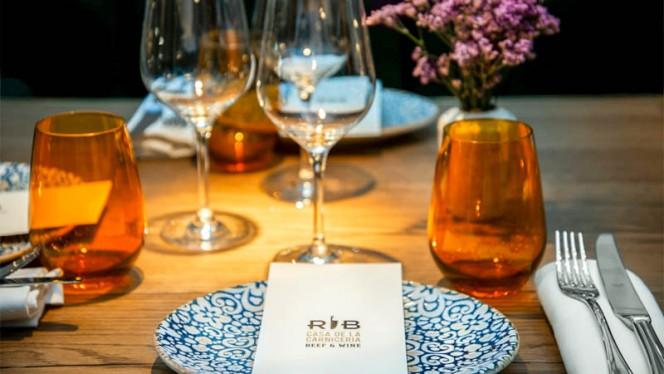 Detalle de la mesa - RIB Beef & Wine - Casa de la carnicería, Madrid
