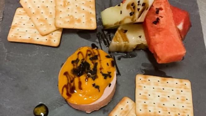 Pizarra de sandía y foie con mango - Pi-Gros,