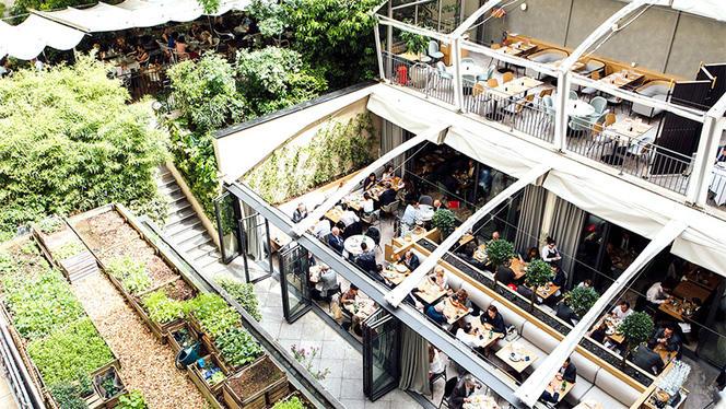 Vue de la terrasse - Flora Danica, Paris