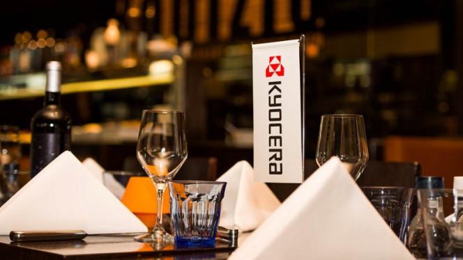 Detail van de tafel - Rodizio, Den Haag
