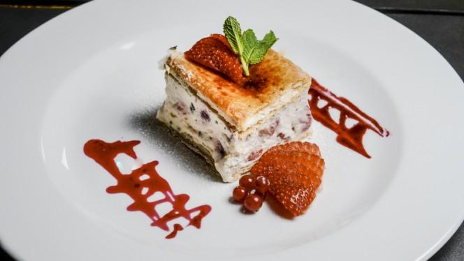 feuilleté aux fraises et à la menthe - Le Gabrien, Carouge