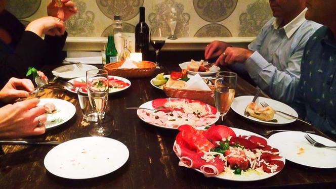 Detail van de tafel - Restaurant Amici, Den Haag