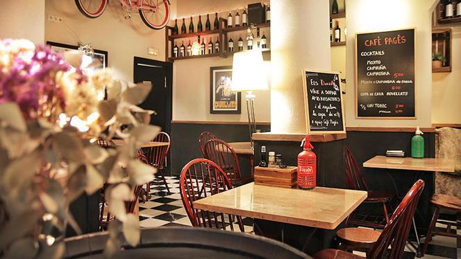 vista interior - Café Pagés, Barcelona