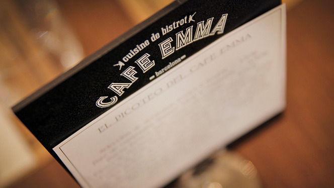 detalle carta - Café Emma, Barcelona