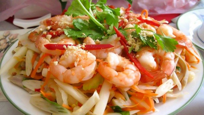 Shrimp salade - Pho Long, Amsterdam