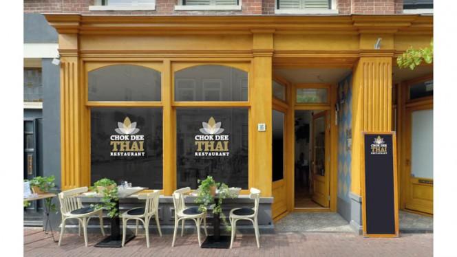Ingang - Chok Dee Thai Restaurant, Amsterdam