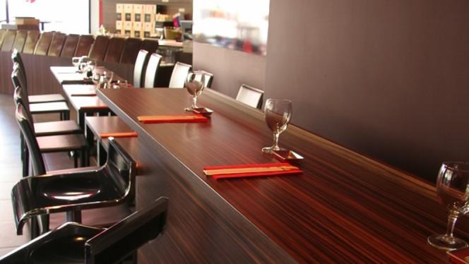 Détail tables - Sushi & Sushis, Lyon