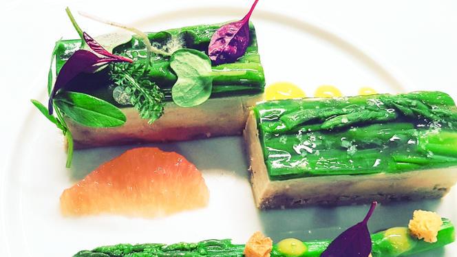 Foie gras et asperges vertes - Ô 33,