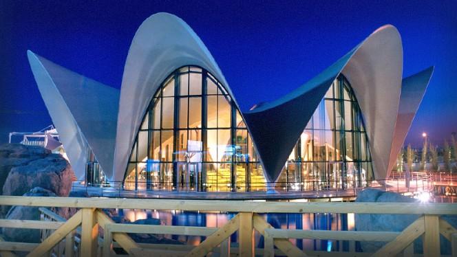 Vista exterior noche - Submarino, Valencia