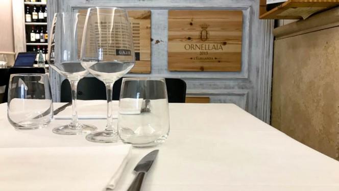 particolare tavolo - Evo Hosteria, Rome