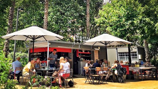vista terraza - Pinhan Café, Barcelona
