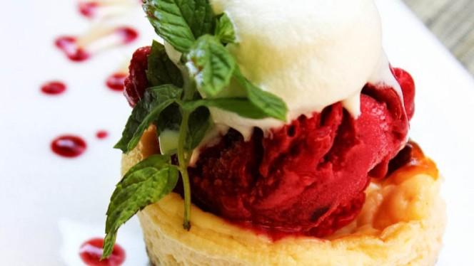 cheesecake, sorbet cerise - La Fromagerie du Passage, Aix-en-Provence