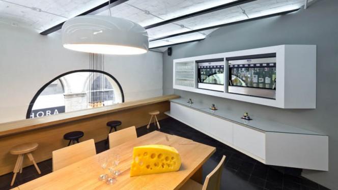 Salle de restaurant du 1er étage - La Fromagerie du Passage, Aix-en-Provence
