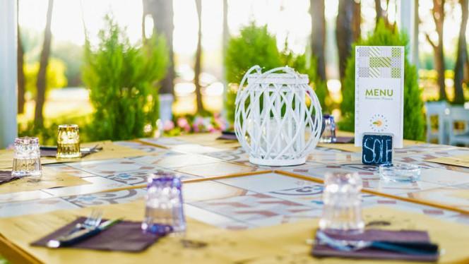 Particolare tavolo - Osteria del Sole, Cesenatico