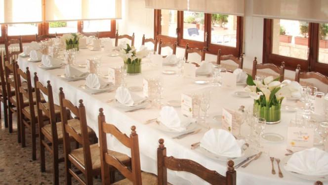 Vista mesa banquete - Áncora, Palamos